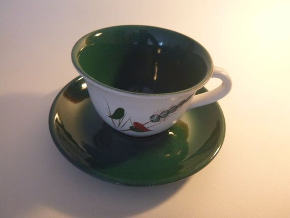 Denby Vintage Greenwheat Tea Cup and Saucer by getgiftideas