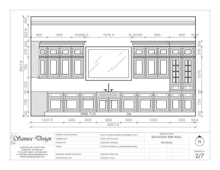 A Detailed Elevation Of A Traditional Kitchen Featuring Faced Framed Cabinetry And Timeless Detailing Elevation