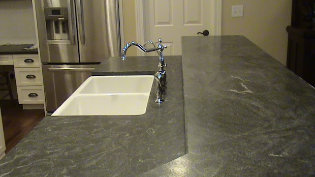 Virginia Mist Granite Looks Like Soapstone Kitchen