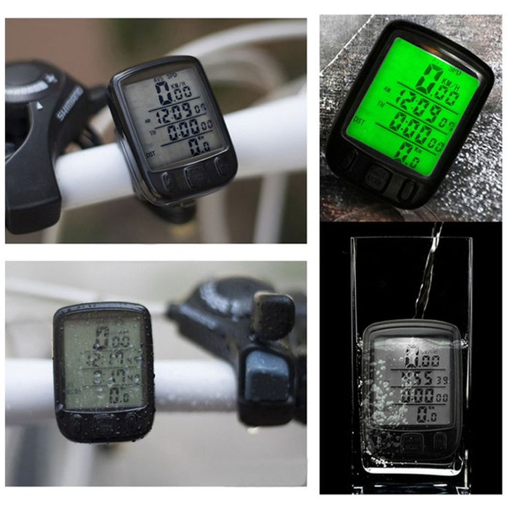 2016 Новый Водонепроницаемый ЖК http://ali.pub/wgpmy Дисплей Велоспорт Велосипед Компьютер Пробега Спидометр с Зеленой Подсветкой купить на AliExpress