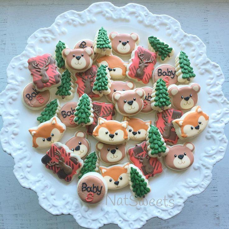Mini Gluten Free woodland/ buffalo plaid cookies ❤️ love these! #woodlandcookies #buffaloplaidcookies #glutenfreecookies #glutenfree  @cup4cup #sandiegobakery #sandiego #cup4cup