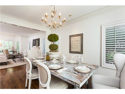 The old rustic dining room table plays well with the luxurious end chairs and the elegant chandelierDining Rooms, Rustic Dining Room, Deco Ideas, Rustic Table, Dining Room Tables, Tables Plays, Wingback Chairs Dining Room, Plays Well, Elegant Chandeliers