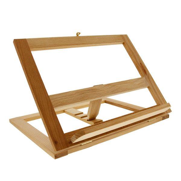Large Wooden Bookrack Easel Cookbook Holder