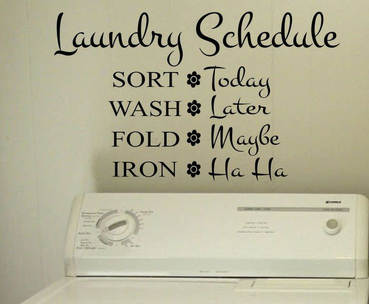 Vinyl Wall Lettering Laundry Room Funny Schedule Quotes