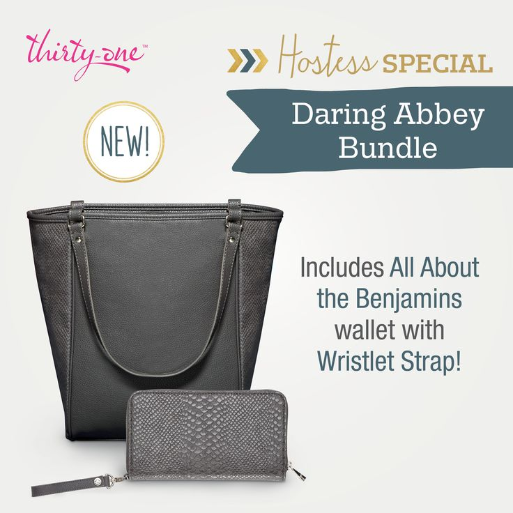 Get ready for fall with Thirty-One's August 2015 Hostess special! A beautiful Daring Abbey and All About the Bengamins wallet!! Retails for $144 but you can get this for only $45 with a qualifying party!!!