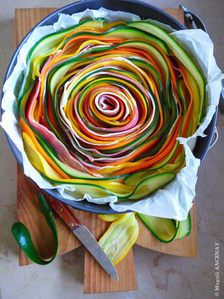tarte aux légumes de printemps-quatre saisons au jardin