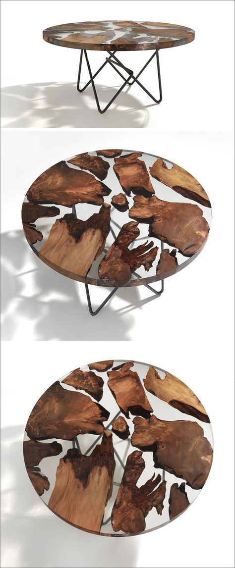 An Ancient New Zealand Wood Has Been Combined With Resin To Create A Unique Table Top