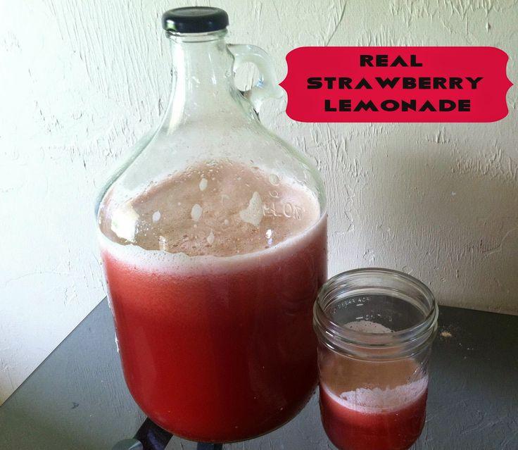 My Lamp is Full: Fresh Strawberry Lemonade