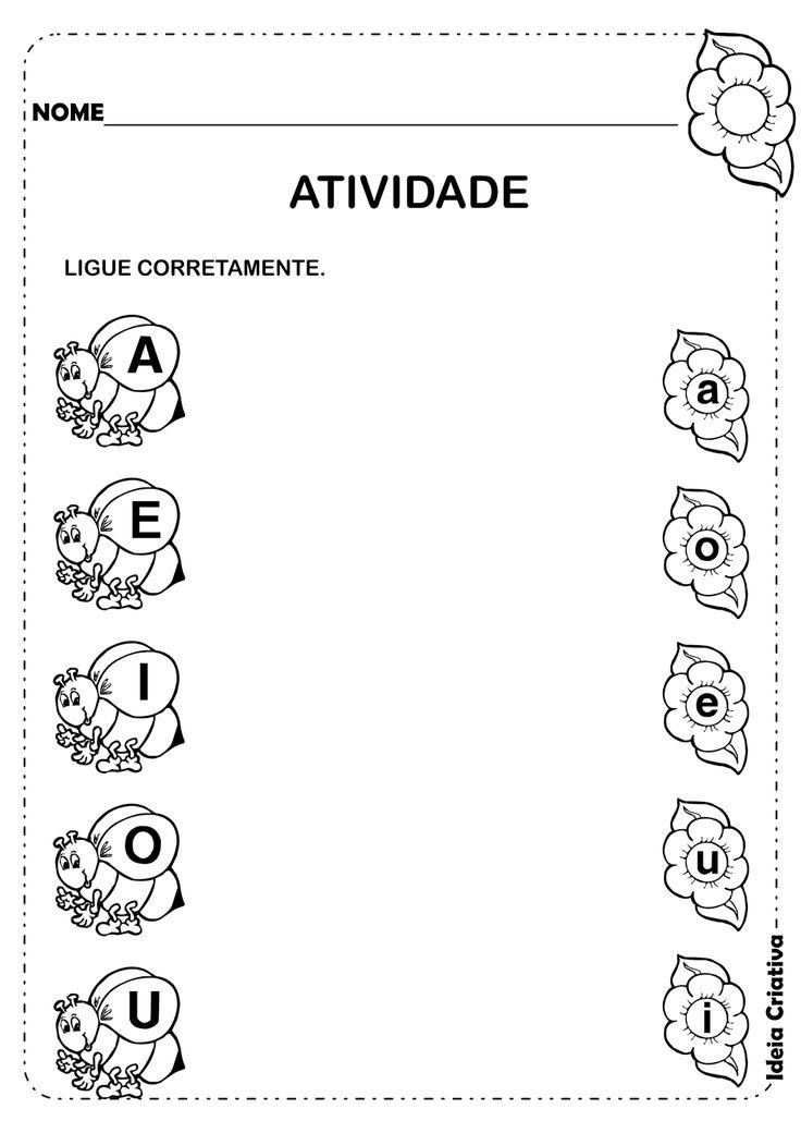 Ideia Criativa - Gi Barbosa Educação Infantil: Atividade Vogais Maiúsculas e Minúsculas