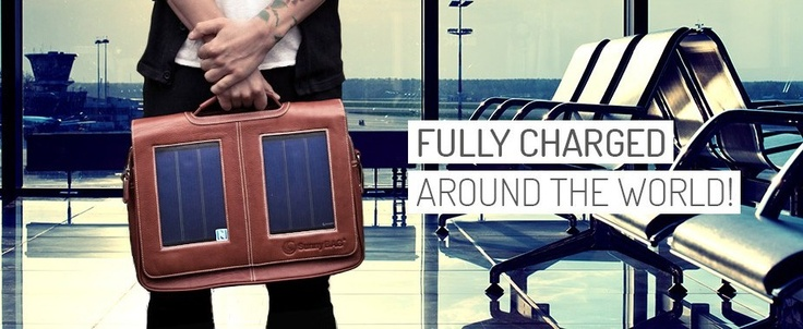 SunnyBAG solar power messenger bags - keeping you fully charged as you travel around the world!
