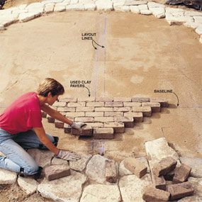 Great step by step on laying out a patio
