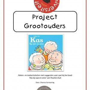 Project grootouders a.d.h.v. het prentenboek 'Kas bij opa en oma'. Een project van 76 pagina's. 6 rekenactiviteiten en 6 taalactiviteiten + veel andere suggesties bij het thema. Een lesaanbod van minimaal 2 weken!