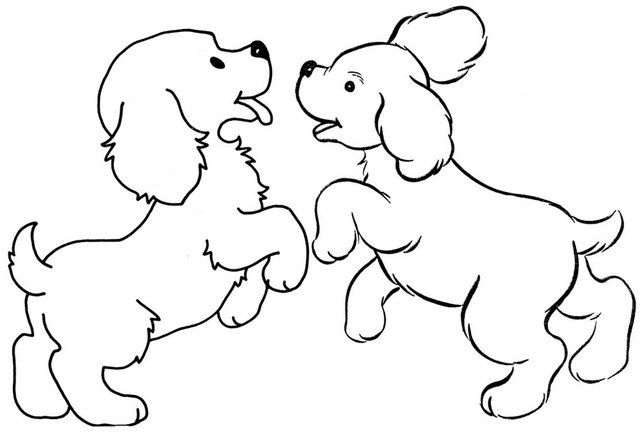 Dog Pictures For Coloring Background