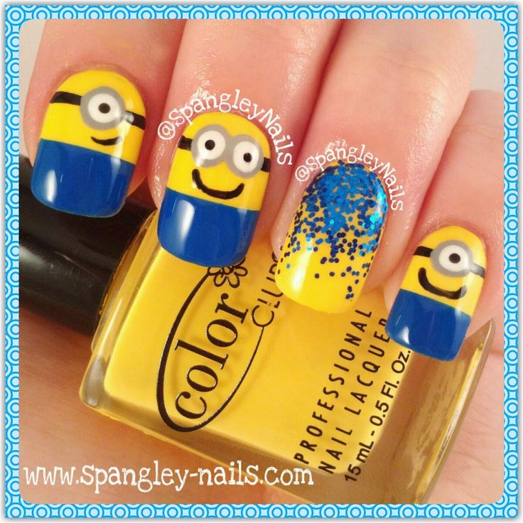 Spangley Nails: Spangley's Simple Steps: {Tutorial Week} Minion Nail Art - Best 25+ Minion Nail Art Ideas On Pinterest Minion Nails, DIY