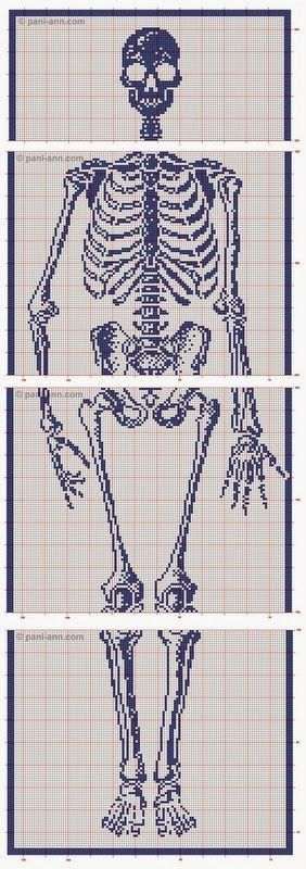 inspiration and realisation: DIY fashion blog: skeleton scarf: crochet filet pattern
