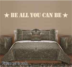 military room decor | Be All You Can Be Military Wall Decal Kids Room Decor | eBay