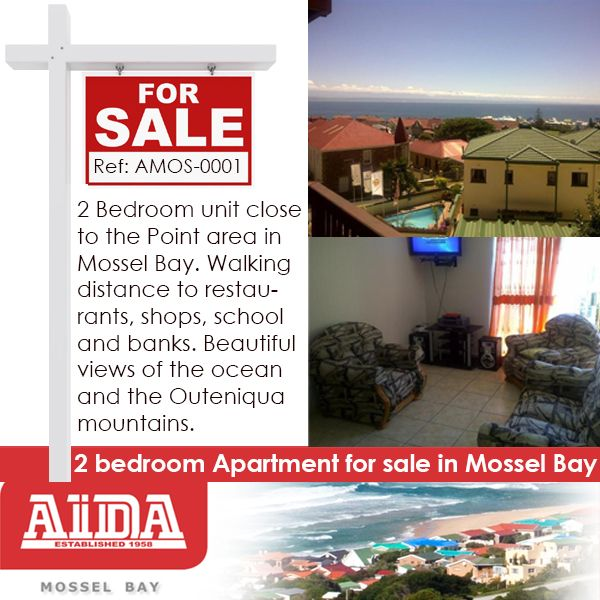 2 Bedroom unit close to the Point area in Mossel Bay. Walking distance to restaurants, shops, school and banks. Beautiful views of the ocean and the Outeniqua mountains. WEB REF: AMOS-0001  #golfestate #property #mosselbay