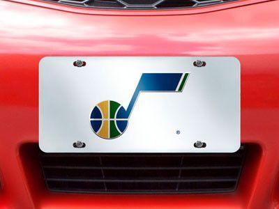 "Utah Jazz License Plate Inlaid 6""x12"""