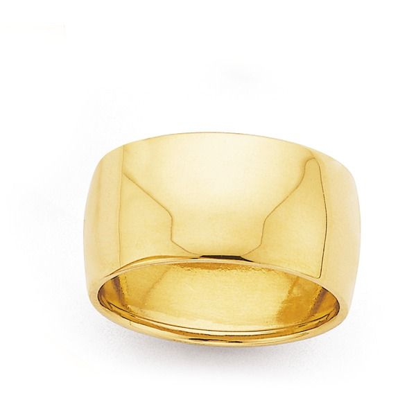 9ct Gold 10mm Wide Dress Ring | Prouds The Jewellers