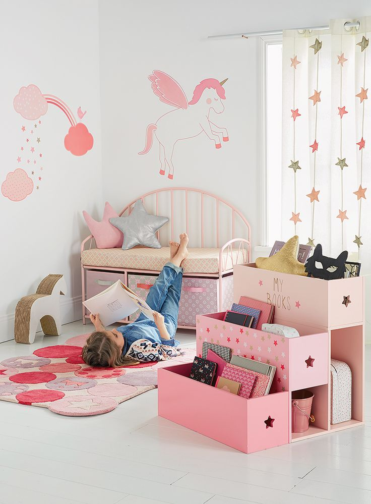 Create a magical world in your childs room with this giant unicorn complete with rainbow clouds and stars size 2 sheets measuring 100 x 70 cm