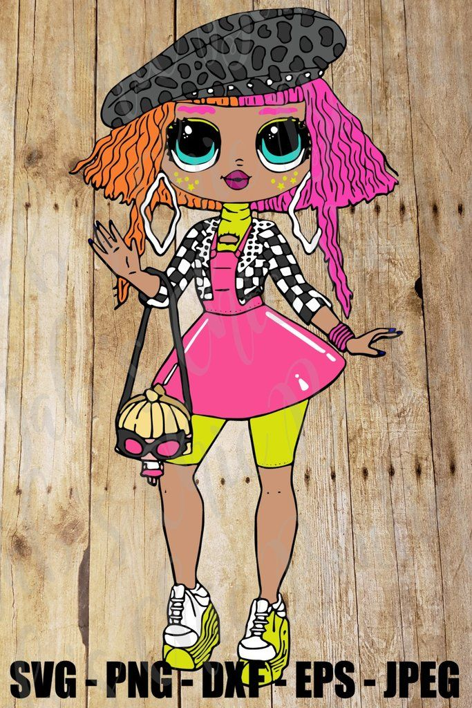 Neonlicious Omg Lol Surprise Doll Svg Jpeg Png Dxf Eps High Def L O L Sublimation Iron On Design Topper In 2020 Lol Dolls Bff Drawings Doll Backgrounds