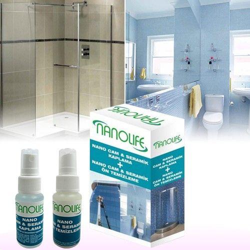 """Nanolife Nano Cam ve Seramik kaplama"""" kaplama malzemesi ile duşa kabin camları kir ve bakterilerden korunurlar. Duş kabinlerindeki camların temizliğinde sarf edilecek sürenin en aza indirilmesini sağlar. Detaylı bilgi için tıklayınız smile ifade simgesi http://bit.ly/1OH4vIh #camtutucu #banyoaksesuarları #cammentşeleri #camkapıkilitleri #çamaşırkurutması"""