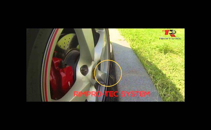 림프로텍(rimpro-tec)을 포르쉐 휠에 장착후 주행중 충격 테스트영상