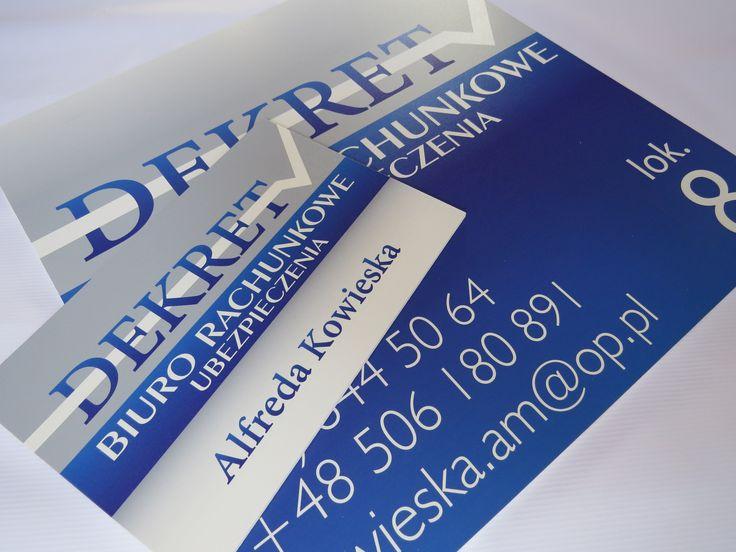 szyldy informacyjne - mała tabliczka (20x30 cm) na drzwi do biura, duża tablica (50x50 cm) na ogrodzenie. Wykonane z pcv 5 mm z zadrukiem bezpośrednim  - projekt i wykonanie www.BlueBrand.pl #BlueBrand #AgencjaReklamowa #reklama