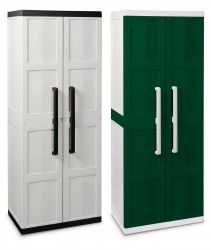 Bentley Garden Large Storage Cabinet – Available in Grey & Green - features three shelves which can hold up to 20kg and are adjustable,also lockable.
