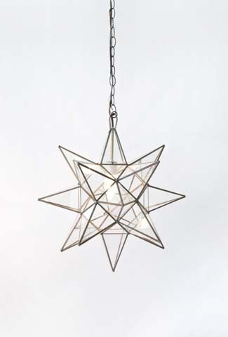 Star Clear Glass Chandelier - Small