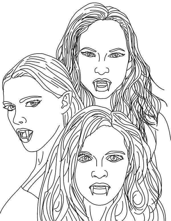 Supercoloring Vampire Portraits