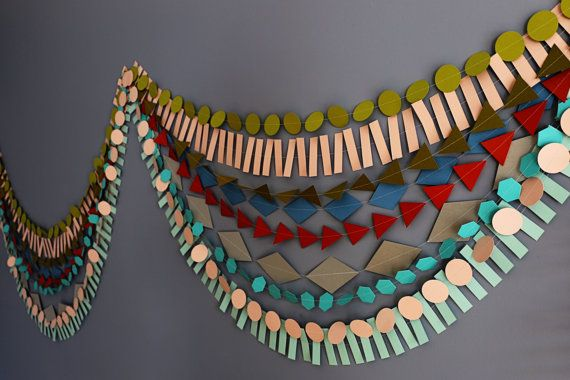 Paper Garland Party Garland Birthday Garland by pipsqueakandbean