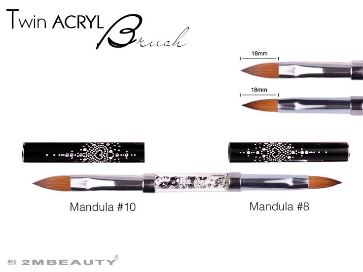 2mbeauty brushes for nails, for acryl