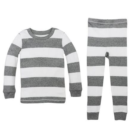 Burt's Bees Boys' Rugby Stripe Tee and Pant Set | Walmart.ca