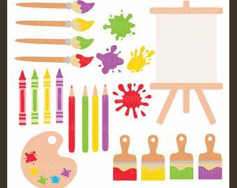 Art Party Clipart Paint Clip Art Painting Clipart Easel Clipart