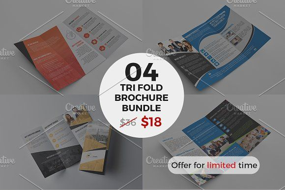 Tri fold Brochure Bundle by Cristal Pioneer on @creativemarket