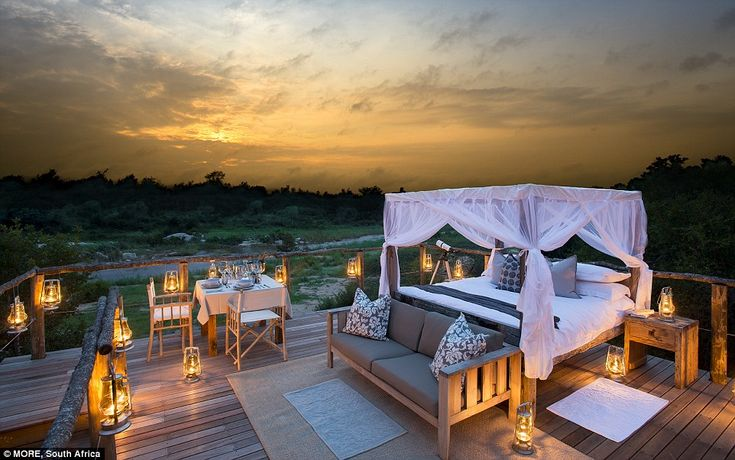 The Tinyeleti Tree House comes complete with a massive bed, telescope, sofa and dining are...