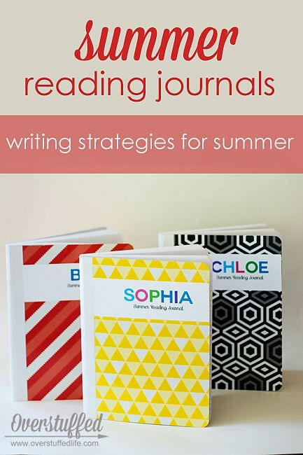 Easy to make summer reading journals, plus some great ideas for reading and writing activities for your kids. #overstuffedlife