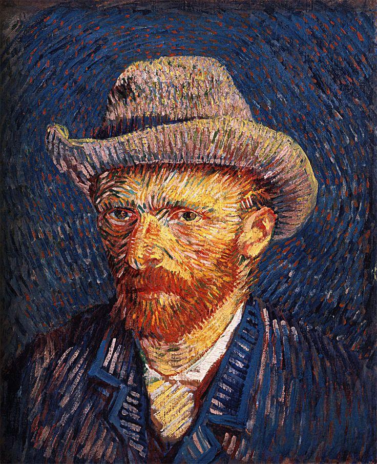 Autoritratto con capello di feltro - V. Van Gogh