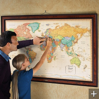 71 best map it images on pinterest buttons creative ideas and personalized magnetic travel maps fun way to track travels could do push pin version sciox Images