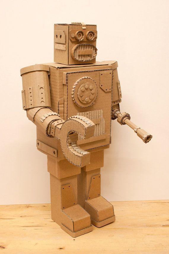 cardboard box robot favor boxes | Cool Cardboard robot display