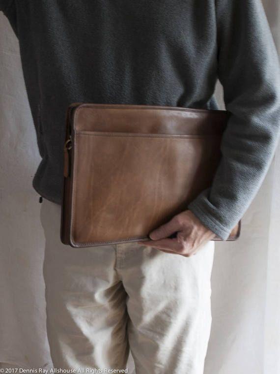 Vintage Coach XL portfolio attache zip top laptop case brown