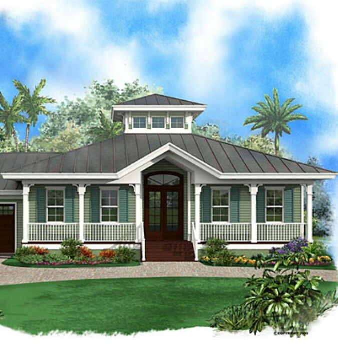 Key west bungalow house plans for Florida cottage plans