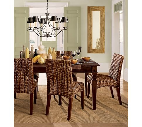 seagrass chairs.Dining Rooms, Eatin Kitchens, Dining Table'S, Room Chairs, Breakfast Room, Barns Dining, Pottery Barns, Dining Tables, Seagrass Chairs