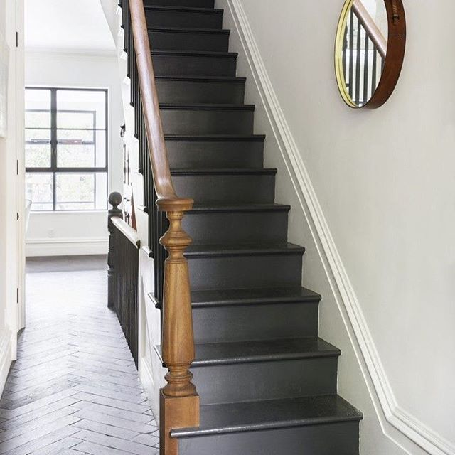 """Another shot from today's post!  More """"standout stairway"""" images on Beckiowens.com.  Have great night!  Image via @remodelista"""