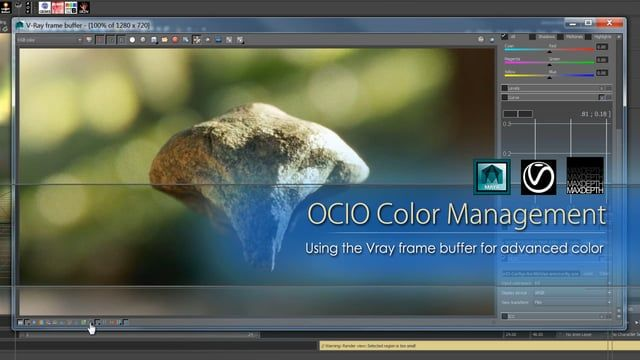 In this tutorial from MAXDEPTH we will be discussing OCIO and LUT Color Profiles, and how to use the Vray Frame Buffer to streamline your color management across multiple applications and departments.