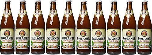 From 19.99 Paulaner Hefe-weizen Natural Wheat Beer 10 X 500 Ml