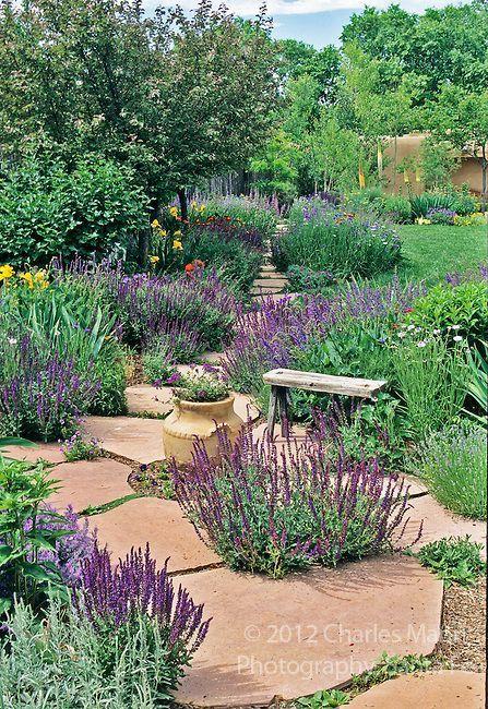 Catherine Clemens home garden Santa Fe, NM