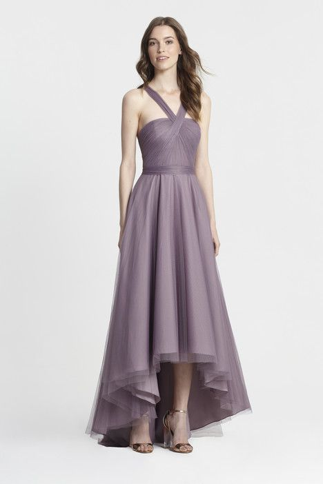 450377 (lilac) dress (Slim A-Line, Halter, Halter,  Sleeveless ) from  Monique Lhuillier : Bridesmaids 2017, as seen on dressfinder.ca. Click for Similar & for Store Locator.