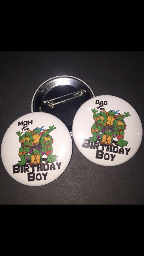 Ninja Turtle Birthday Pin